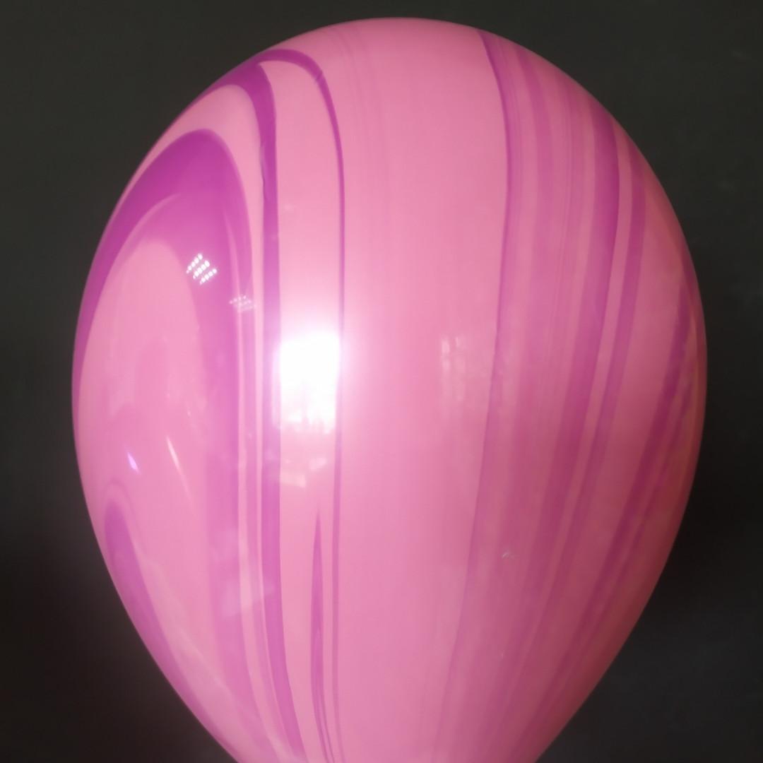 """Латексна кулька агат рожево-фіолетовий pinkk&violet superagate 11"""" Qualatex"""