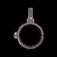 Хомут трубы универсальный 140мм Водосточные системы Технониколь, Коричневый ПВХ D125/82 мм