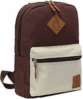Рюкзак Bagland Молодежный mini 8 л. Коричневый/бежевий (0050866)