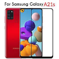 Захисне скло з рамкою для Samsung Galaxy A21s