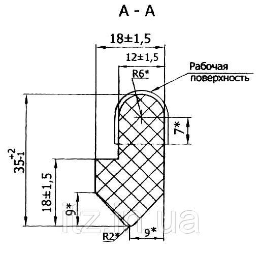 Уплотнение разгрузочного люка (литое) 3054.15.10.903