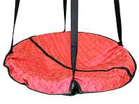 Качели подвесные круглые для детей и взрослых, гнездо аиста «Take&Ride nest red»