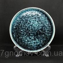 Набор 6 керамических синих тарелок Лазурит 21 см