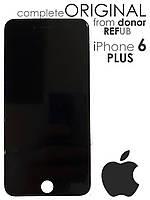 Дисплейный модуль для iPhone 6s Plus Черный Оригинал REFUB (LCD экран, тачскрин, стекло) original  black