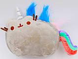 Мягкая игрушка кот-единорог радуга Pusheen cat (n-651), фото 2