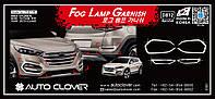 Хром накладки на галогенки Hyundai Tucson 2015-2018 (Autoclover D812), фото 1