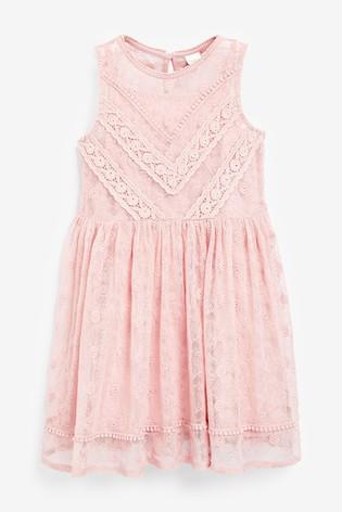 Детское нарядное кружевное платье для девочки Next