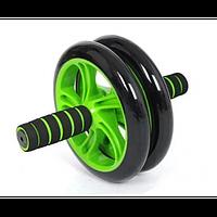 Колесо для пресса фитнес Double Wheel ABS Health Abdomen Round Двойное