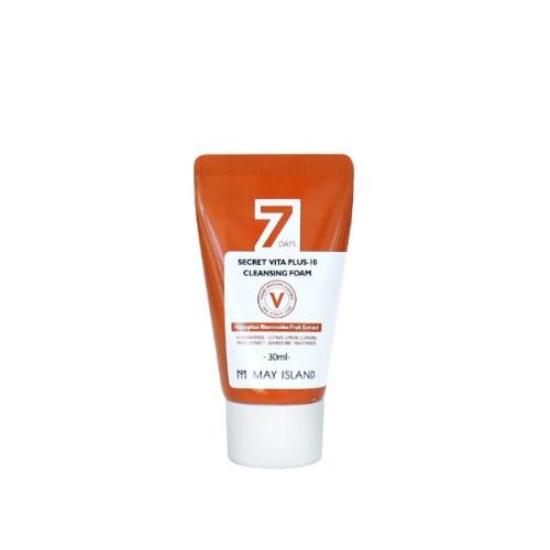 Очищаюча пінка з ефектом освітлення May Island 7 Days Secret Vita Plus-10 Cleansing Foam, 30 ml