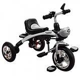 Трехколесный велосипед-беговел трансформер с  поворотным сиденьем на надувных колесах, Turbotrike бежевый, фото 4