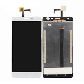 Модуль (дисплей+сенсор) для Oukitel K6000 Pro білий, фото 2