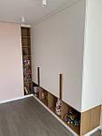 Длинная дизайнерская мебельная ручка планка деревянная орех, фото 6