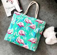 Женская сумка пляжная Flamingo mint