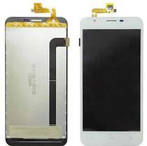 Модуль (дисплей+сенсор) для Oukitel U7 Pro, BRAVIS Atlas A551 Dual SIM білий, фото 2
