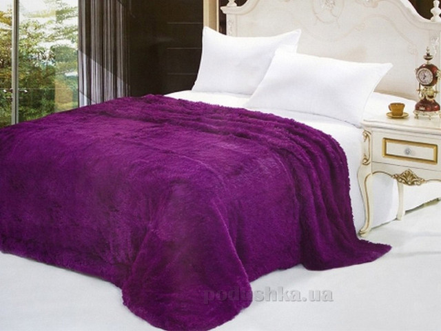 Махровый плед (покрывало) фиолетовый