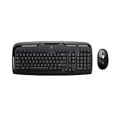 Набор Клавиатура + мышь Logitech EX100 Wireless Keyboard and Mouse Combo Black