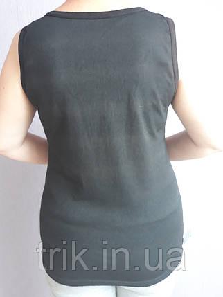 Майка женская хлопковая черная полотно компьютерка, фото 2