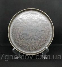Набор 6 керамических тарелок серо-коричневых Хризолит 21 см