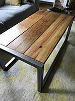 Журнальный стол из дерева  и металла ручной работы