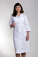 "Медицинский халат женский ""Health Life"" х/б белый 2101"