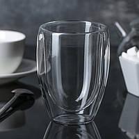 Склянка З Подвійними Стінками 350мл з боросилікатного скла