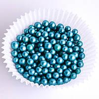 Драже сахарное перламутровое бирюзовое 5 мм 50 гр Украса