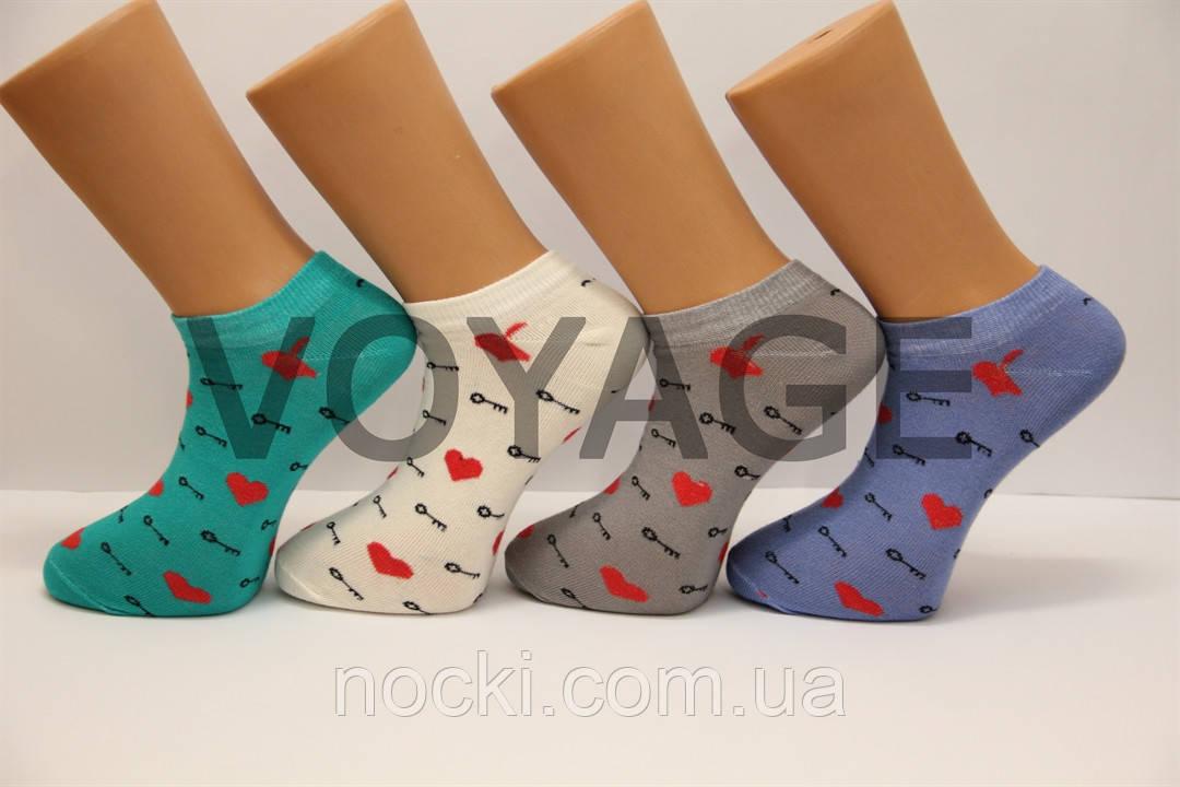 Мужские носки короткие с хлопка КЛ MONTEBELLO 41-45  133 сердечки,ключик