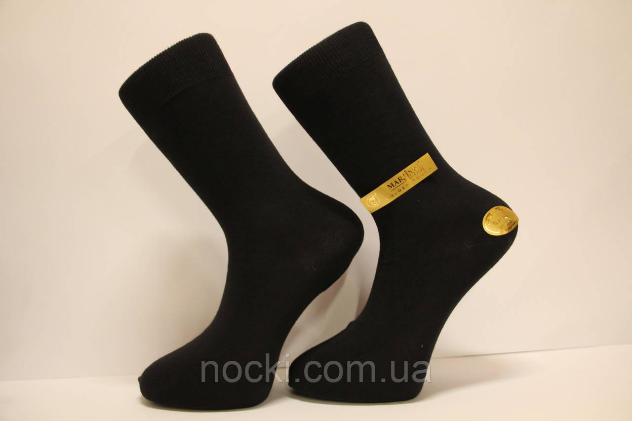 Мужские носки высокие стрейчевые демисезонные Хакан 39-41 черный