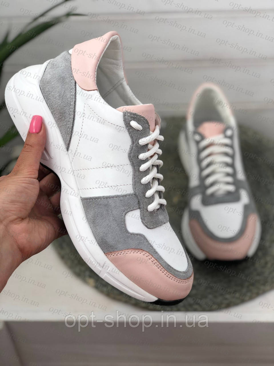 Кросівки білі жіночі шкіряні