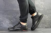 Кожаные мужские кроссовки Reebok, демисезонные, черные