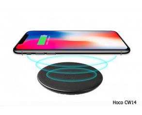 Беспроводное зарядное устройство Hoco CW14 wireless charger 1A Black, фото 2