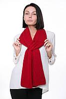 Женский Шарф крупной вязки красный, 60% акрил 30% шерсть 10% эластан