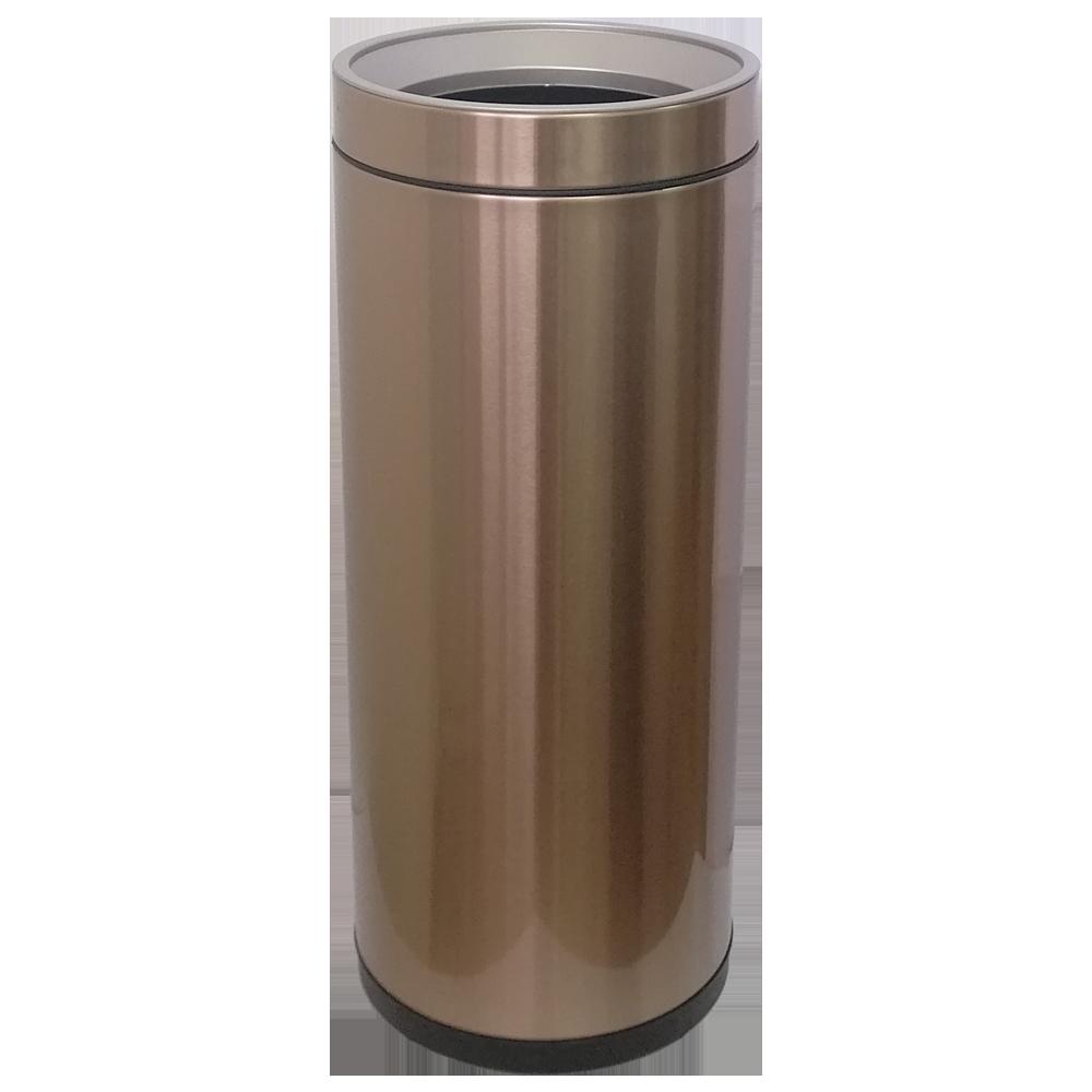 Ведро для мусора JAH 25 л круглое розовое золото без крышки и внутреннего ведра