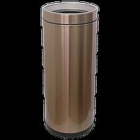 Ведро для мусора JAH 25 л круглое розовое золото без крышки и внутреннего ведра, фото 1