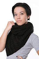 Женский Снуд с косами черный, 60% акрил 30% шерсть 10% эластан Пряжа