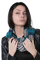 Женский Снуд вязаный терракот, петроль, 60% акрил 30% шерст 10% эластан Дакота