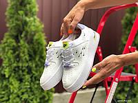 Женские кроссовки Nike Air Force 1 Shadow —  белые демисезоная подростковые кеды Найк Аир Форс