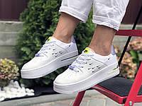 Женские кроссовки Nike Air Force 1 Shadow —  белые демисезоная подростковые кеды Найк Аир Форс 38