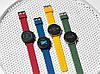 Смарт часы Skagen Falster 2 Smartwatch Google Wear OS с NFC Черный корпус и синий силиконовый ремешок, фото 5