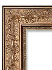 Зеркало в золотой раме для ванной, фото 2