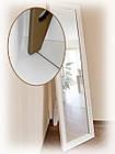 Напольное зеркало в белой раме 1650х400мм, фото 5