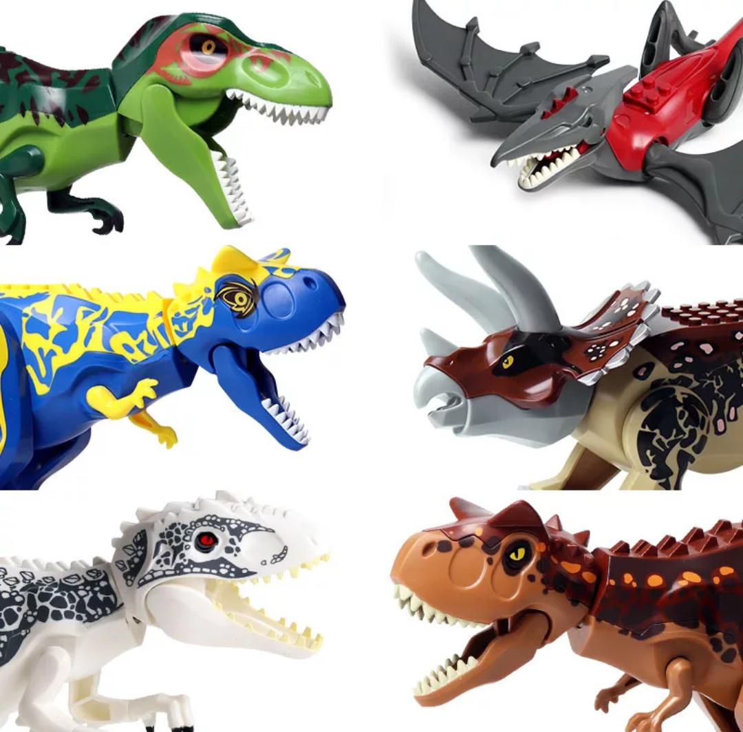 Динозавр большой аналог Лего  длина 29 см. Конструктор динозавр