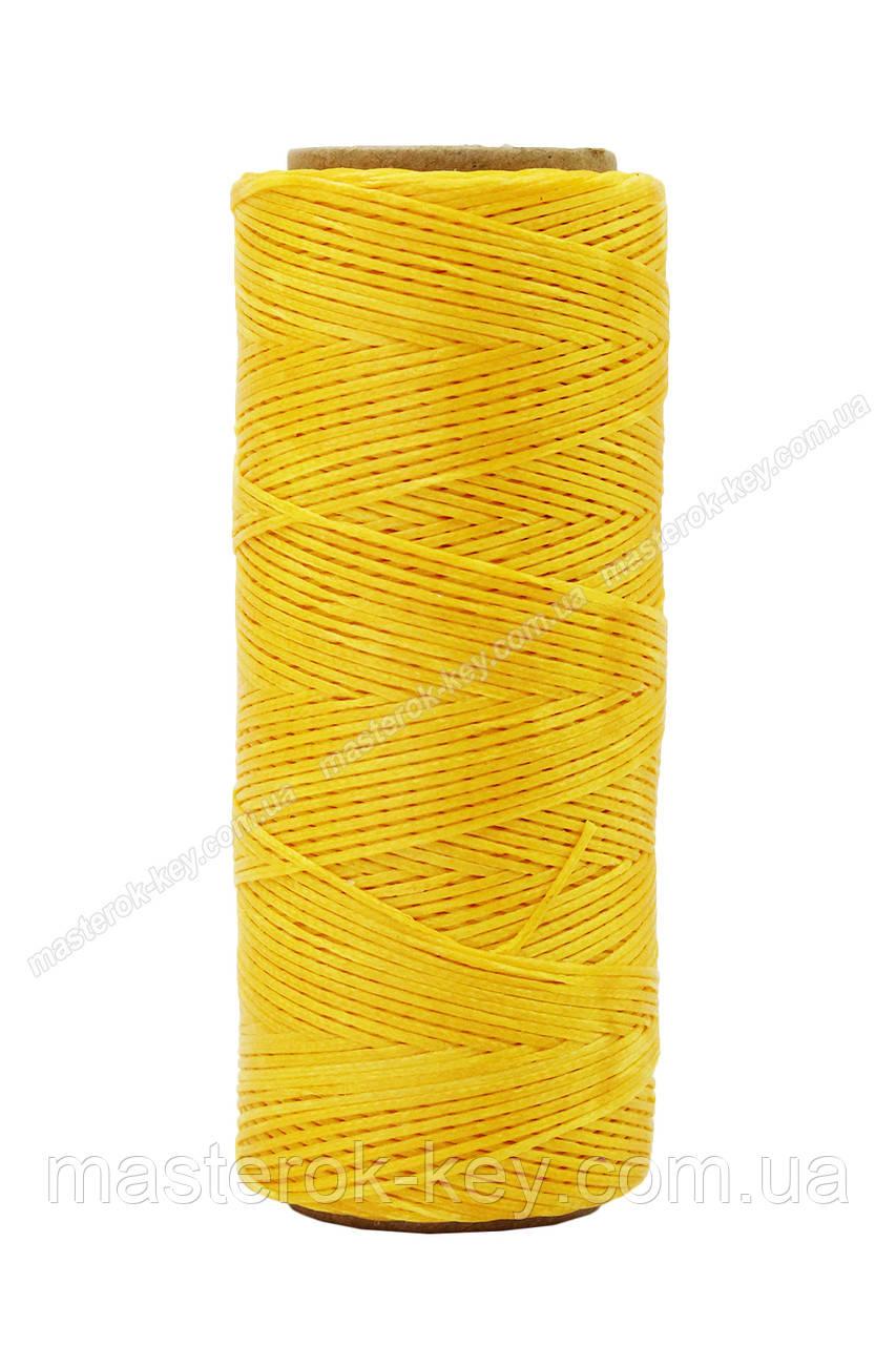 Шнур плоский прошивочный вощеный 0,8мм*100м 972 цвет желтый