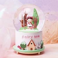 """Музыкальный снежный шар с автоподдувом """"Fairy Tale"""", Размер:14 см"""