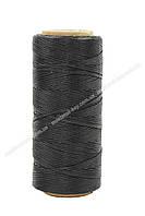 Шнур плоский прошивочный вощеный 1,0мм*100м Black К040 цвет черный