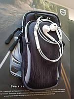 Яркий универсальный чехол на руку для телефона 4-6 дюймов для бега и велосипеда с двумя отделениями