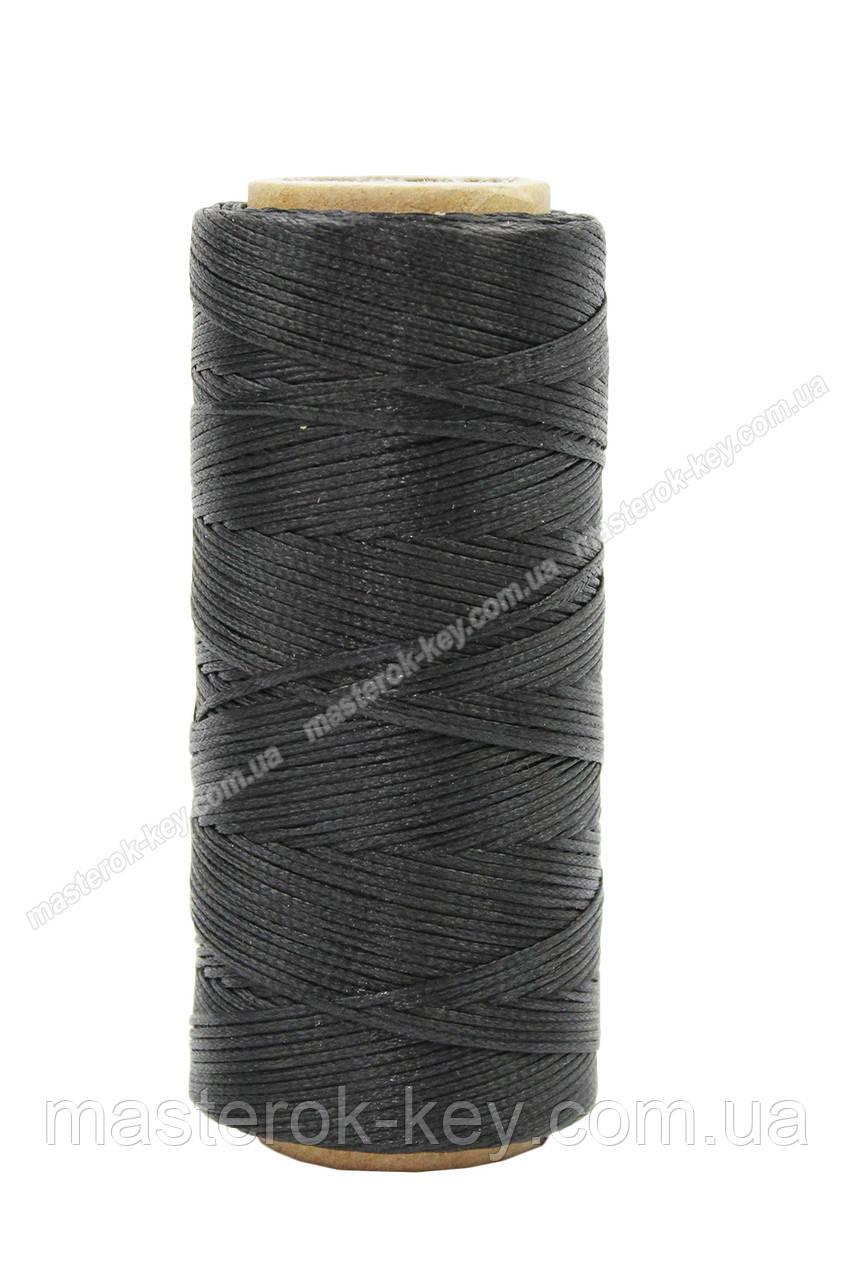 Шнур плоский прошивочный вощеный 1,0мм*100м цвет К881 темно коричневый