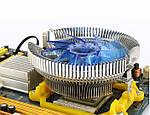 Кулер для процессоров Intel и AMD с подсветкой + термопаста