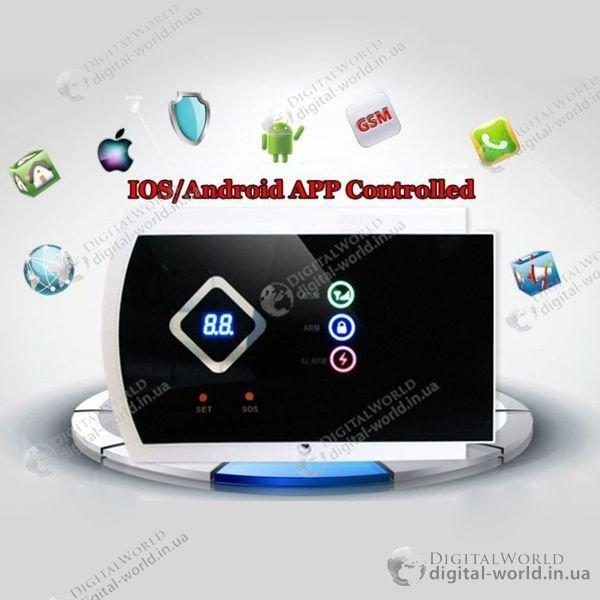 Охоронна GSM система сигналізації GSM016 з можливістю управління зі смартфона (Android, IOS)