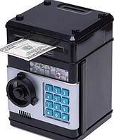 Детская электронная копилка сейф, детский банкомат с кодовым замком NUMBER BANK